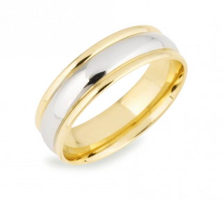 Katrina Two Toned Wedding Ring