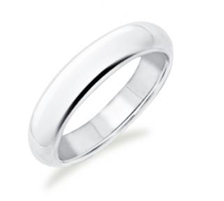 Kristina Classic White Gold Wedding Ring