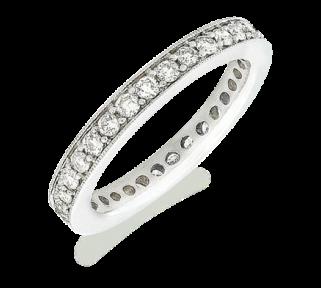 Rosalinda White Gold Eternity Ring