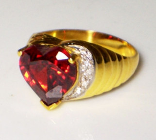 Ruby Heart Ring