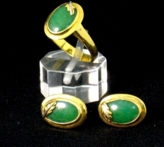 Jade Ring and Earring Set