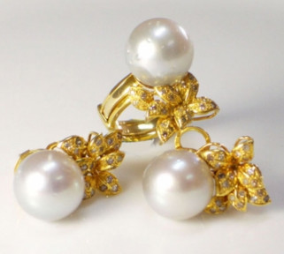 South Sea Pearls with Diamonds