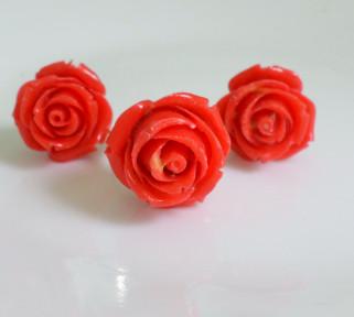 Rose design Faux Coral Set