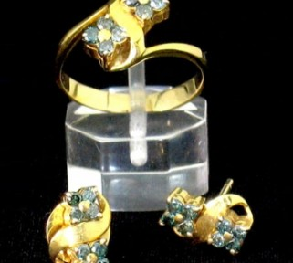 Blue Green Diamond Set