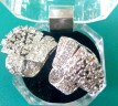 Fan design earrings