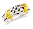 Daniella two tone with lattice design wedding ring