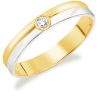 Marie Two Toned Wedding Ring Design